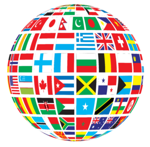 World Flags Globe Transparent